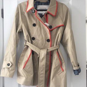 Nwt coach short trench coat